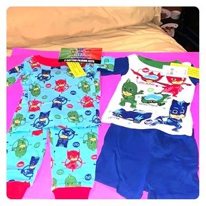 Brand new two cotton boys pajama sets